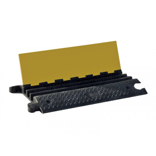CMW Ltd  | Heavy Duty Cable Protectors Rubber 1m length 75mm H x 60mm W 3x cable channels (1m lgth)