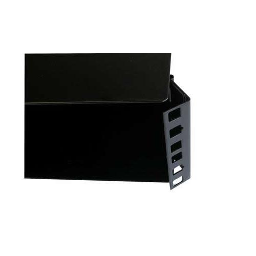 CMW Ltd    2U Hinged Wall Mount Panel Enclosure 300mm Deep - Black