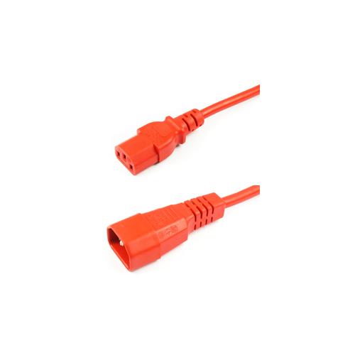 Orange 1m IEC Male to Female Lead (Each)