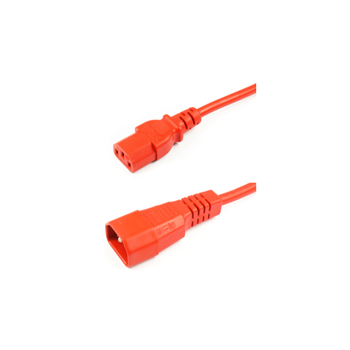 CMW Ltd    Orange 1m IEC Male to Female Lead