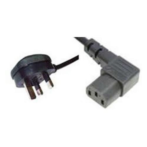 2m Right Angled Female C13 to BS1363 UK Plug Lead (Each)