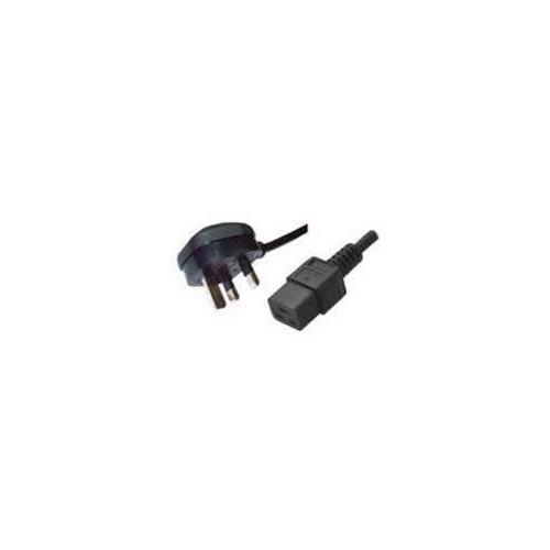 2.5m UK Plug to C19 IEC Female Lead (Each)