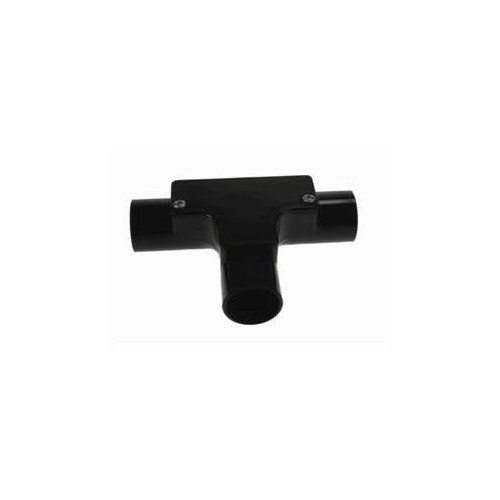 Dietzel Univolt 20mm Black PVC Rigic Conduit Inspection Tee (Each)