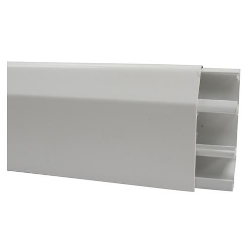 Marshall Tufflex Sovereign Plus Skirting Trunking White 75mm x 20mm 3m length (3m lgth)