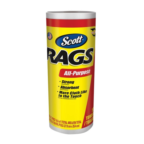 Rags on a Roll-White (Each)