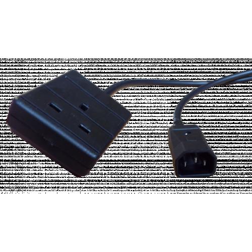 LSOH C14 Plug to UK Socket ( 2m long ) (Each)