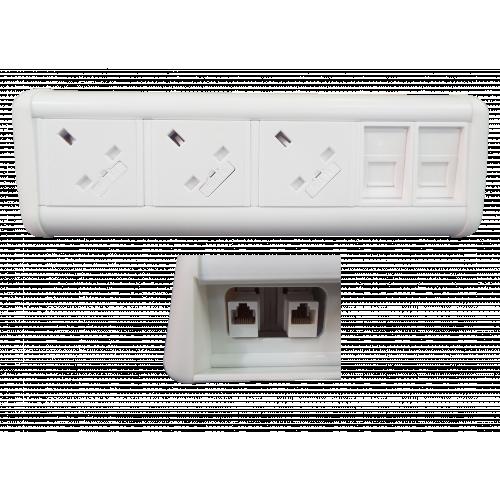 Maxi Unit 3 Power 2 x Data Couplers (Each)
