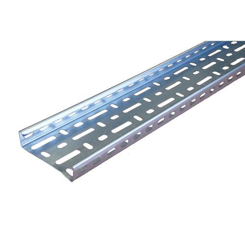 METSEC CTSL25/0100PG 100mm Medium Duty Cable Tray 25mm Return Edge Pre Galv (3m lgth)