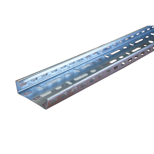 METSEC CTSL25/0050PG 50mm Medium Duty Steel Cable Tray 25mm Return Edge 3m length (3m lgth)