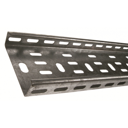METSEC CTSL25/0075PG | 75mm Medium Duty Cable Tray 25mm Return Edge Pre Galv (3m lgth)