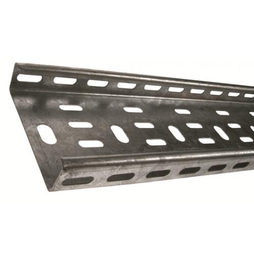 METSEC CTSL25/0075PG | 75mm Medium Duty Cable Tray 25mm Return Edge Pre Galv (3m lgth)