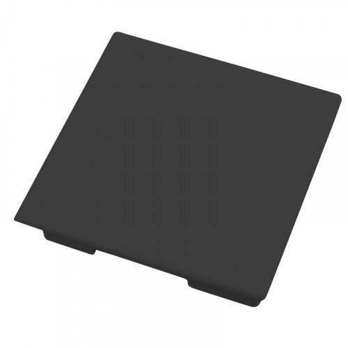 CMW Ltd, Plastic Cable trunking Dietzel Univolt uPVC, Maxi Trunking | Black Fabricated 100 x 100 End Cap