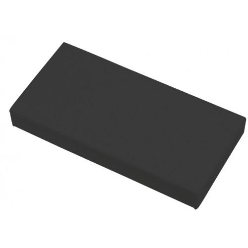 CMW Ltd, Plastic Cable trunking Dietzel Univolt uPVC, Maxi Trunking | Black Clip-on 100 x 50 End Cap