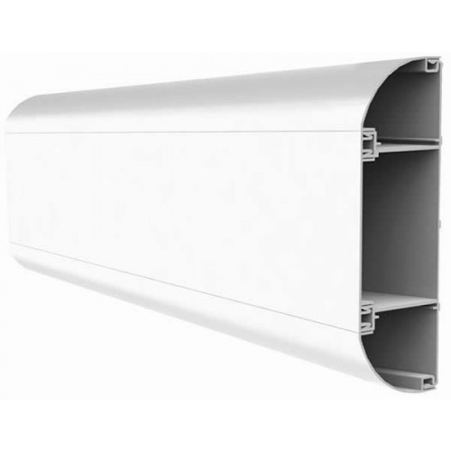 Marco Elite PVC White 3 Compartment Dado Trunking (3m lgth)