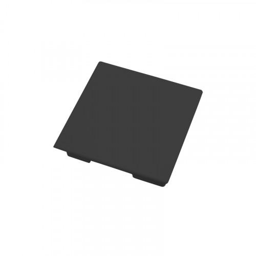CMW Ltd, Plastic Cable trunking Dietzel Univolt uPVC, Maxi Trunking | Black Clip-on End Cap 50 x 50