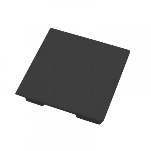 CMW Ltd, Plastic Cable trunking Dietzel Univolt uPVC, Maxi Trunking | Black Fabricated End Cap 75 x 75