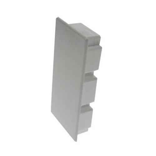 CMW Ltd, Plastic Cable trunking Dietzel Univolt uPVC, Maxi Trunking | 150mm x 50mm End Cap