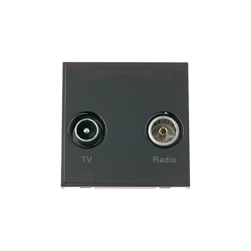 Scolmore MM420BK | Click New Media Black TV & Radio Module EURO 50x50mm Module