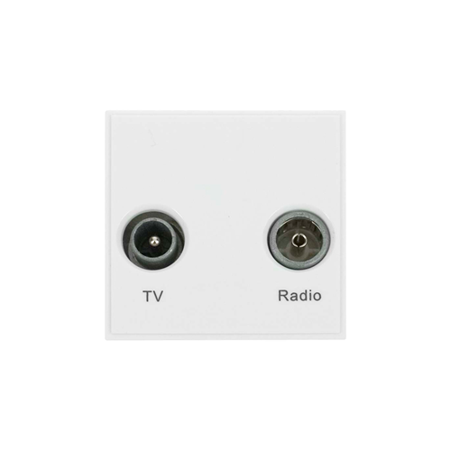 Click New Media White TV & Radio Module EURO 50x50mm Module (Each)