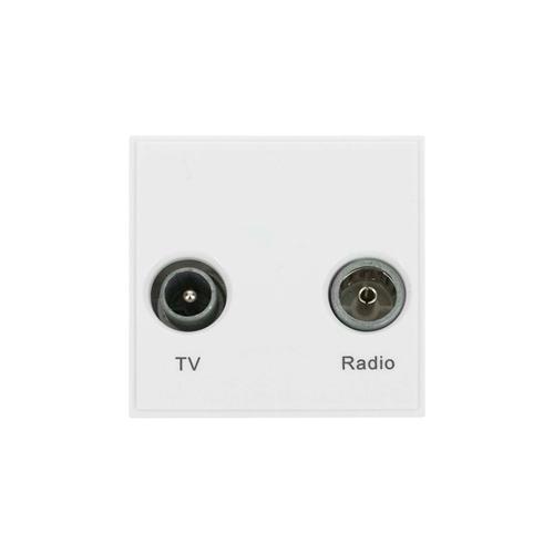 Scolmore MM420WH | Click New Media White TV & Radio Module EURO 50x50mm Module