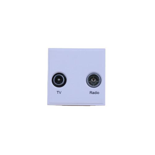Scolmore MM420WH Click New Media White TV & Radio Module EURO 50x50mm Module