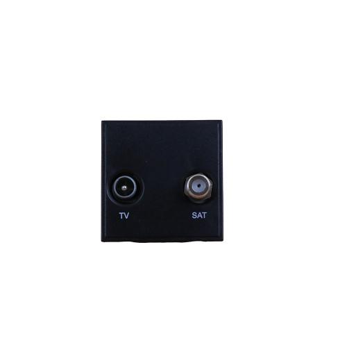 Scolmore MM425BK Click, New Media, Black TV & Satellite EURO 50mm x50mm Module