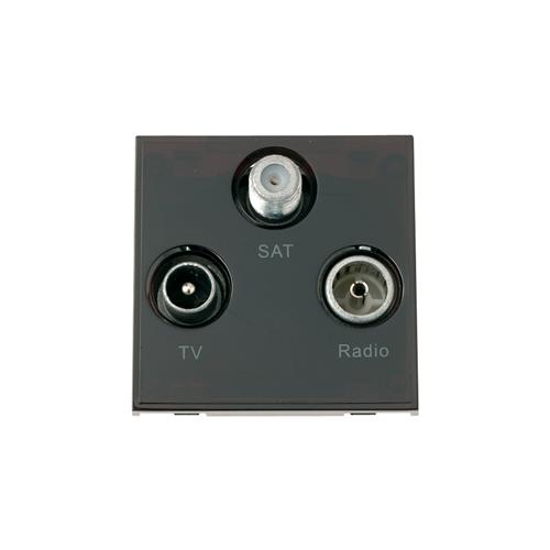 Scolmore MM430BK | Click New Media Black TV Radio & Satellite EURO 50x50mm Module