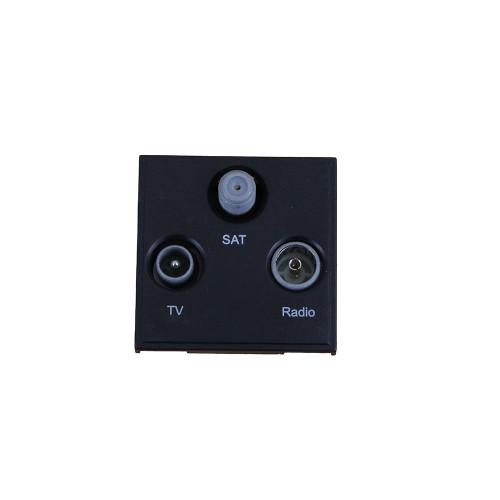 Scolmore MM430BK Click New Media Black TV Radio & Satellite EURO 50x50mm Module