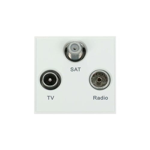 Scolmore MM430WH | Click New Media White TV Radio & Satellite EURO 50x50mm Module