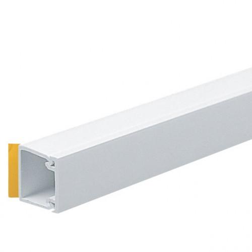 Marshall Tufflex 16mm x 16mm Self Adhesive PVC Mini Trunking White 3m length (3m lgth)