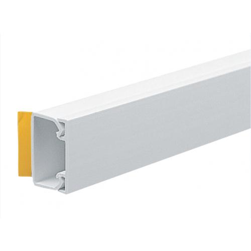 Marshall Tufflex 25mm x 16mm Self Adhesive PVC Mini Trunking White 3m length (3m lgth)