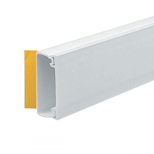 Marshall Tufflex 38mm x 16mm Self Adhesive PVC Mini Trunking White 3m length   (3m lgth)