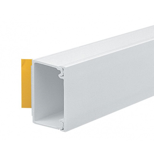 Marshall Tufflex 38mm x 25mm Self Adhesive PVC Mini Trunking White 3m length  (3m lgth)