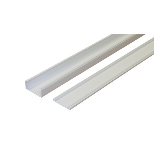 Marshall-Tufflex  MMT5WH | Marshall Tufflex 50mm x 25mm Standard PVC Mini Trunking White 3m length  (3m lgth)