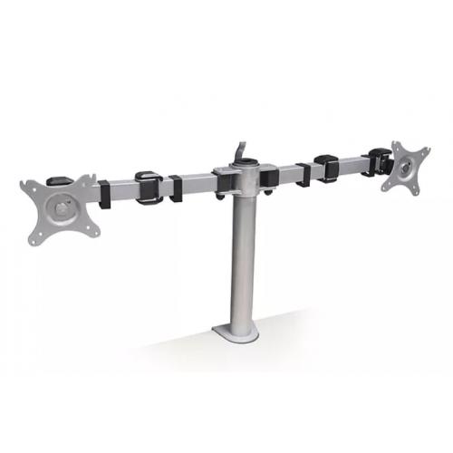 Algar Double Monitor Arm VESA 75/100 - Grey (Each)