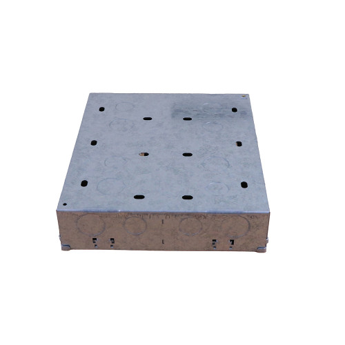 Scolmore MP525 Click 47mm Deep New Media Galvanised Back Box With Central Divider - 2 x 8 Apertures