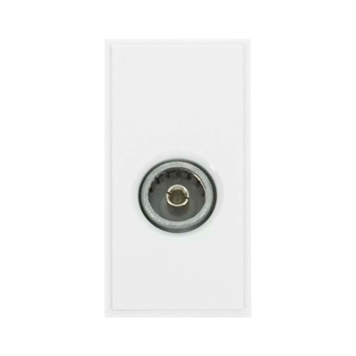 Scolmore MM410WH | Click New Media White Female PAL Co-Axial EURO Module 50 x25mm