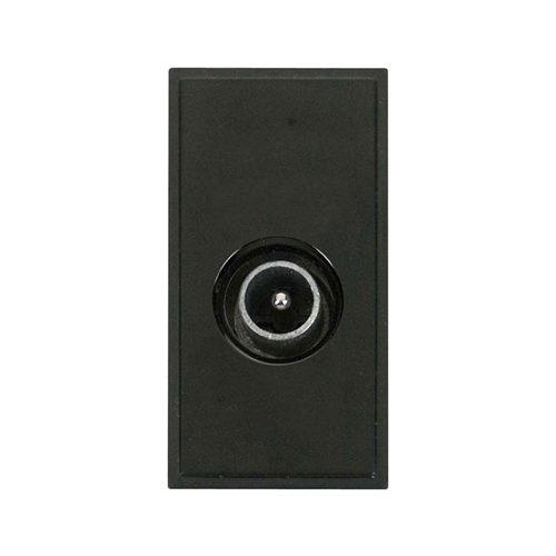Scolmore MM415BK | Click New Media Black Male PAL Co-Axial EURO Module 50 x25mm