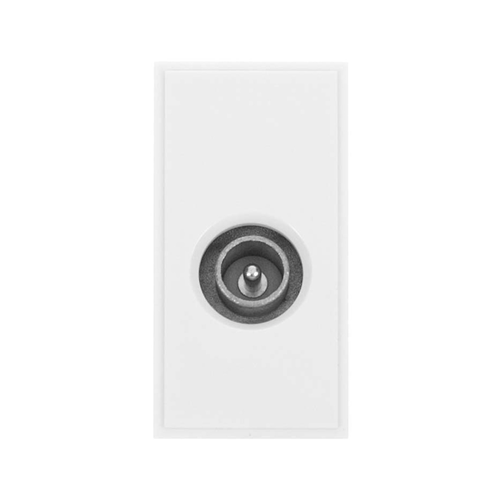 Scolmore MM415WH | Click New Media White Male PAL Co-Axial EURO Module 50 x25mm