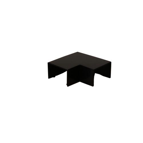 Dietzel Univolt Black Plastic Trunking FFA4BL | Black 40mm x 25mm Flat Angle