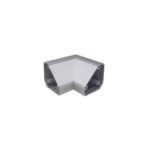 Marco Satin Anodised Aluminium White Bench Trunking Internal Angle (Each)