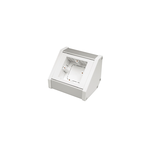 CMW Ltd Angled Bench Trunking | Marco 1 Gang Silver - White, Bench Trunking Unit