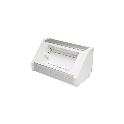CMW Ltd Angled Bench Trunking | Marco 2 Gang Silver - White, Bench Trunking Unit