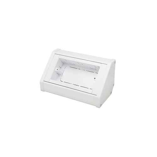 CMW Ltd Angled Bench Trunking | Marco 2 Gang White, Bench Trunking  Socket Unit, or Pedestal Box,  100mm x 100mm,