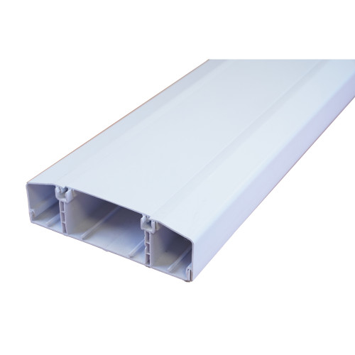 Marco  Apollo PVC White 3 Compartment Dado Trunking 170mm x 50mm 3m length