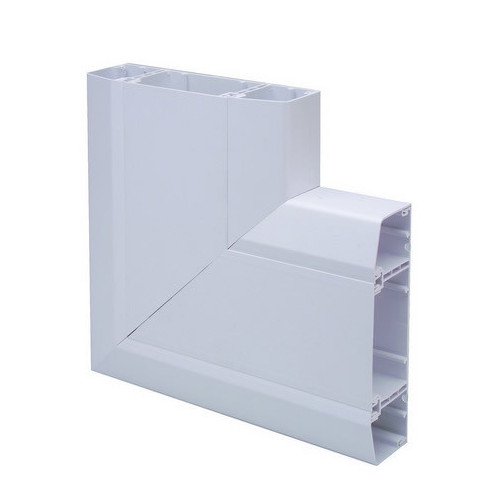 Marco Apollo PVC White 3 Compartment Dado -Skirting Trunking Flat Angle (Each)
