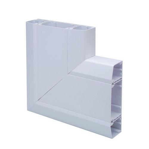 CMW Ltd  | Marco Apollo PVC White 3 Compartment Dado -Skirting Trunking Flat Angle
