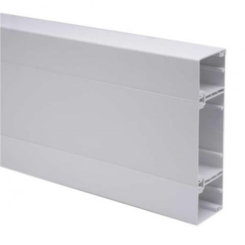 CMW Ltd  | Marco Apollo PVC White 3 Compartment Dado - Skirting Square Trunking 3m length (3m lgth)