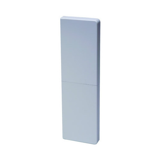 Marco Apollo PVC White 3 Compartment Dado - Skirting Square Trunking  End Cap-2 Piece Fitting (Each)