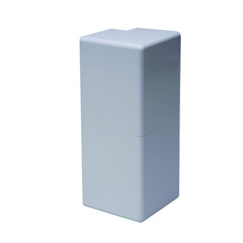 CMW Ltd  | Marco Apollo PVC White 3 Compartment Dado - Skirting Square Trunking External Angle